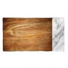 Flot skærebræt med træ & marmor moti