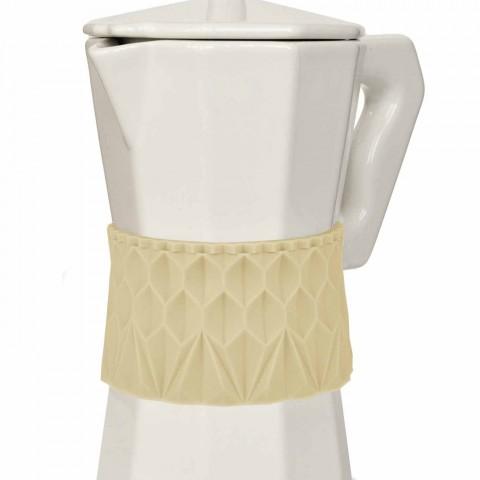 Smuk kaffepot i porcelæn & silikone | Vanilje